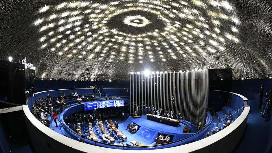 Reforma da Previdência foi aprovada em primeiro turno no Senado Foto: Marcos Oliveira/Agência Senado / BBC News Brasil
