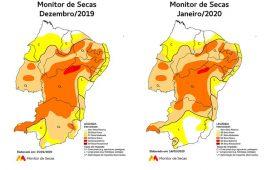 Monitor de Secas aponta mudanças no quadro da seca em Pernambuco em janeiro