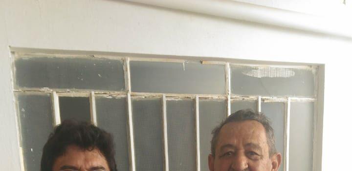 Antonio Fernando com seu pai Claudevar Franklin Bezerra