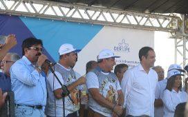 Antonio Fernando com governador Paulo Câmara em Bodocó