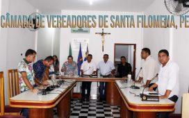 SESSÃO NA CÂMARA DE VEREADORES DE SANTA FILOMENA, PE