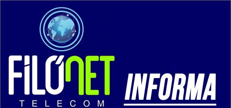 Filonet informa aos usuários
