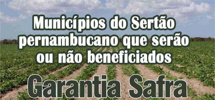 Garantia Safra 2018/2019 Sertão de Pernambuco