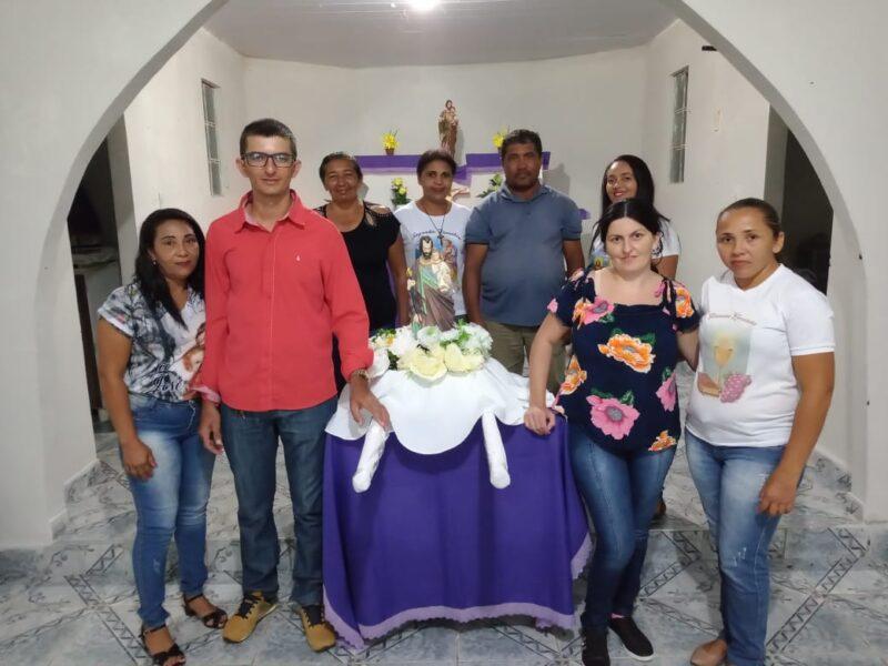 Padrinhos do andor Germano e esposa, Andrade e Regiane