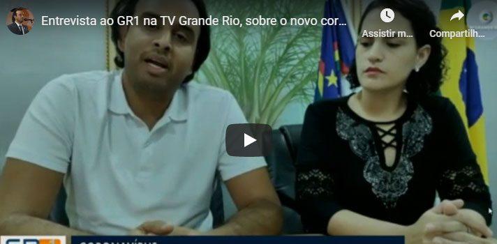 Prefeito Ricardo Ramos na TV Grande Rio sobre coronavirus