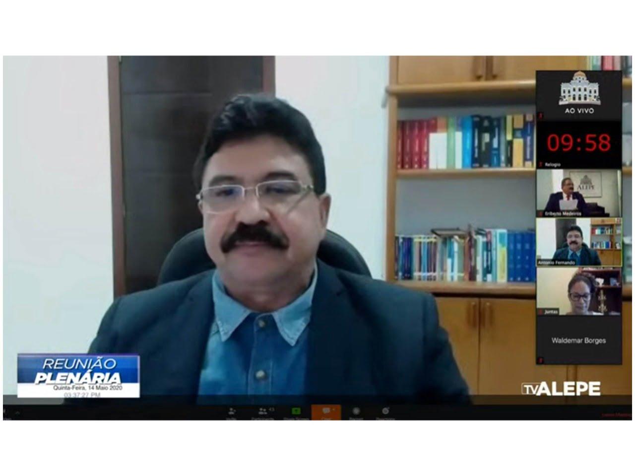 Antonio Fernando defende na ALEPE ampliação do Auxílio Emergencial até o fim do ano