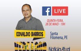 """No """"Vereador por um dia"""" hoje (28), Edvaldo Barros vai declarar porquê é oposição"""
