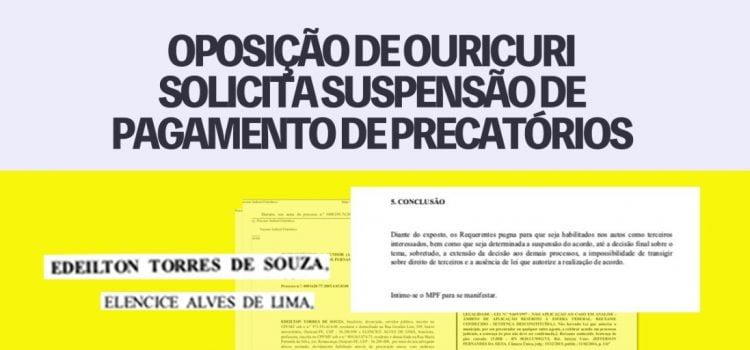 Oposição de Ouricuri solicita suspensão de pagamento de precatórios do Fundef