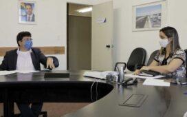Antonio Fernando reúne com Secretária de Infraestrutura e pede recuperação de estradas e obras hídricas para o Araripe