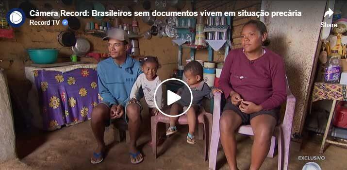 TV Record mostra brasileiros sem documentos em situação precária na Serra do Inácio