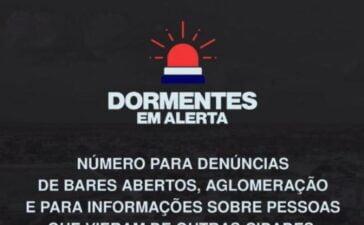 """""""Dormentes contra a propagação da Covid-19"""": Campanha intensifica fiscalização de bares e estabelecimentos comerciais"""