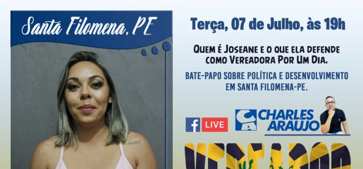 Joseane Lima 'Vereadora Por Um Dia