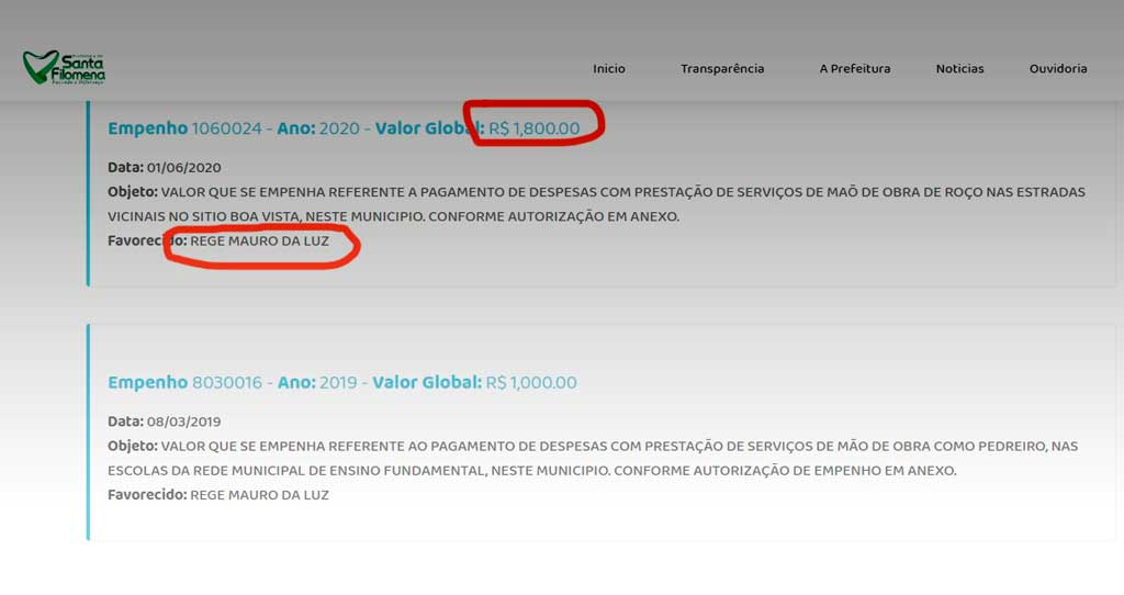 Dinheiro fácil ou desvio a vista? Prefeito de Santa Filomena paga R$ 1.800 pelo roço da estrada de um sitio