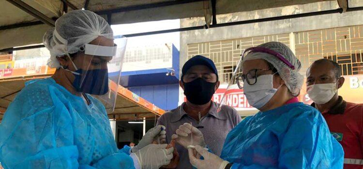 Em Dormentes, profissionais de saúde vão às ruas realizar testagem da Covid-19 em população