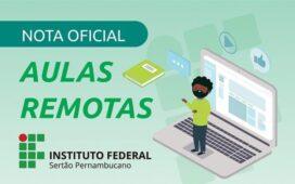 IF Sertão-PE emite nota oficial sobre o retorno das atividades acadêmicas em modo remoto