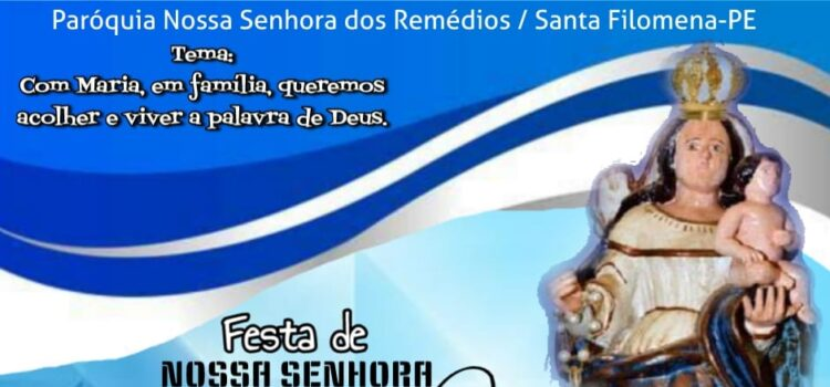 Festa de Nossa Senhora dos Remédios 2020 será transmitida pelo Facebook; veja detalhes