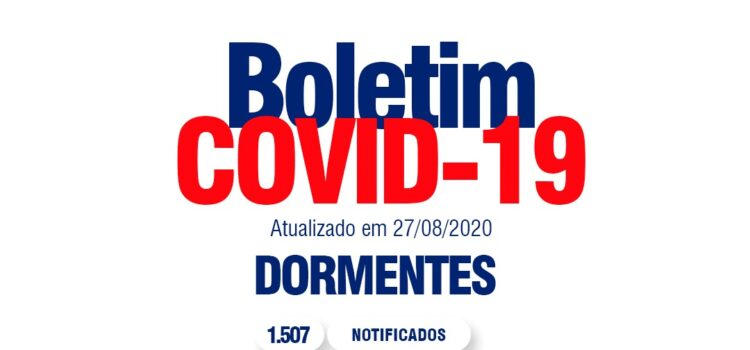 COVID-19: COM CERCA DE 95% DE CASOS CURADOS DORMENTENSES PRECISAM MANTER OS CUIDADOS