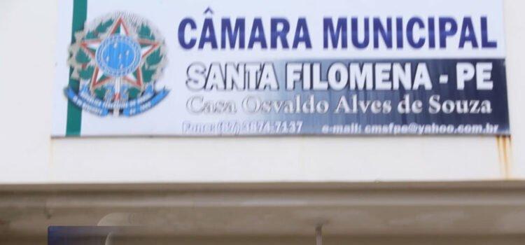 Câmara de Vereadores de Santa Filomena vota mais 2 projetos importantes a portas fechadas