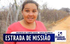 Moradoras denunciam falta de estradas no Distrito de Campo Santo