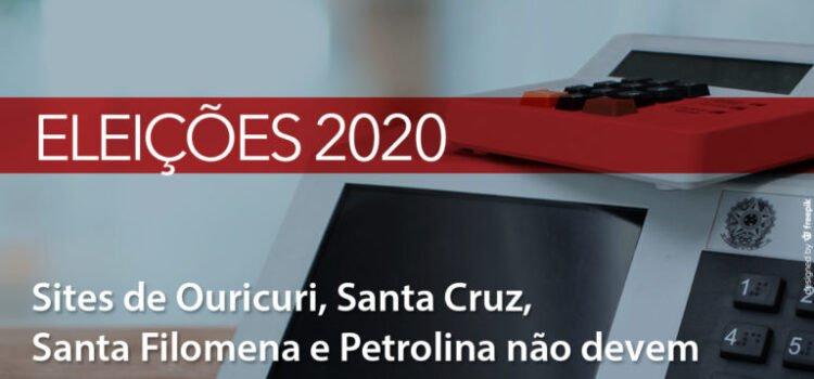 MPPE recomenda sites de Ouricuri, Santa Cruz, Santa Filomena e Petrolina não divulgar propagandas eleitorais