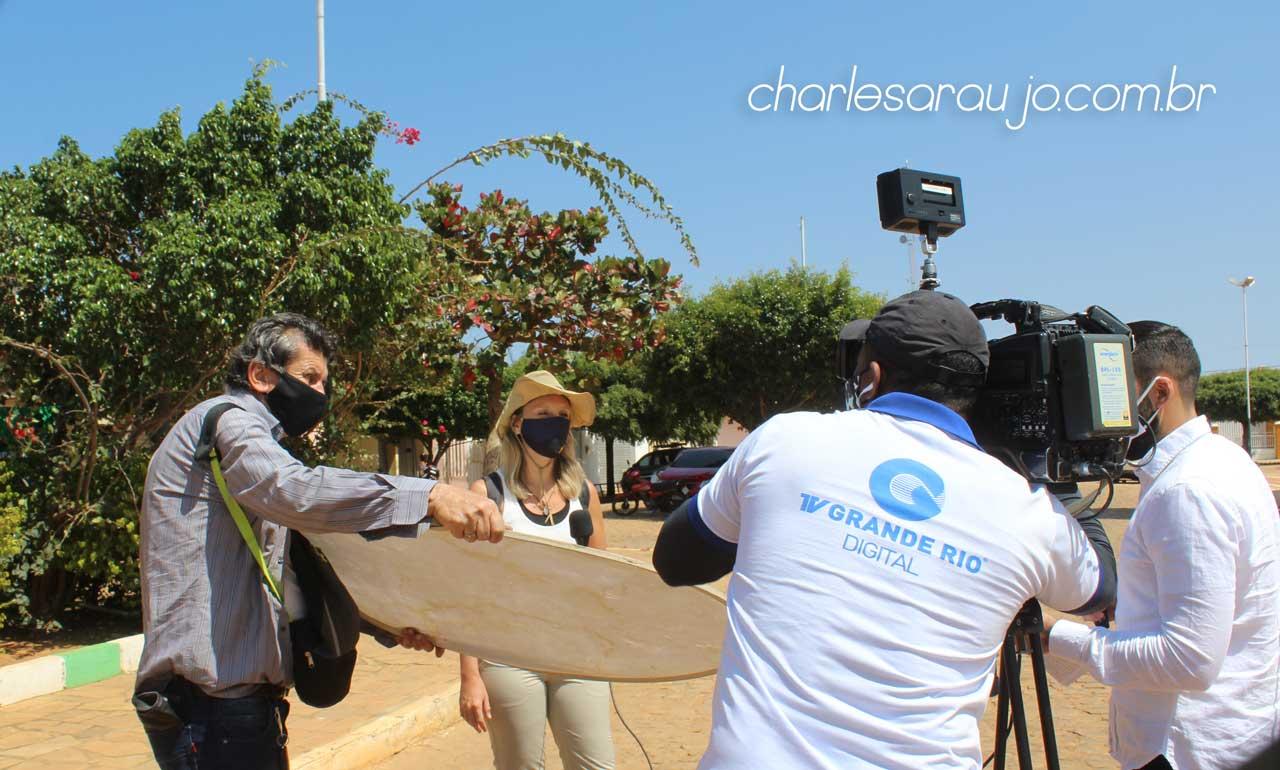 TV Grande Rio na cobertura do pós explosão de meteoro em Santa Filomena