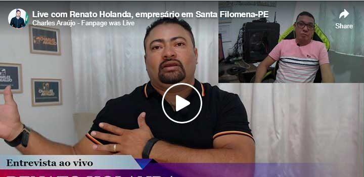 Live de Renato Holanda tem grande sucesso de público e repercussão