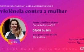 Aviso de Pauta Violência doméstica: Live marca 14 anos da Lei Maria da Penha
