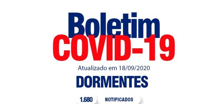 Boletim Covid: Dormentes confirma um novo caso da doença nesta sexta (18)