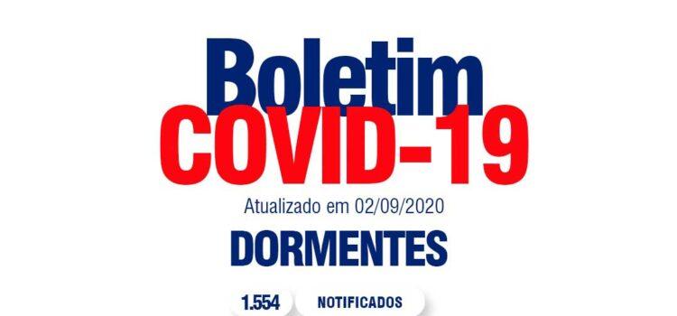 Boletim Covid: Dormentes registra dois novos casos positivos do virus
