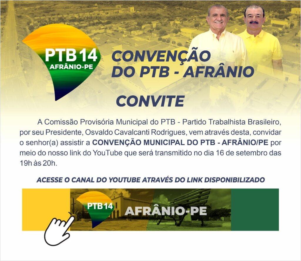 PTB de Afrânio oficializa sua convenção municipal