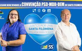 Convenção online PSD-MDB-DEM Santa Filomena foi campeã em repercussão em todas as redes sociais