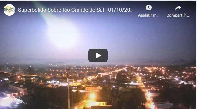 Clarão sobre o Sul do Brasil foi causado por fenômeno corriqueiro