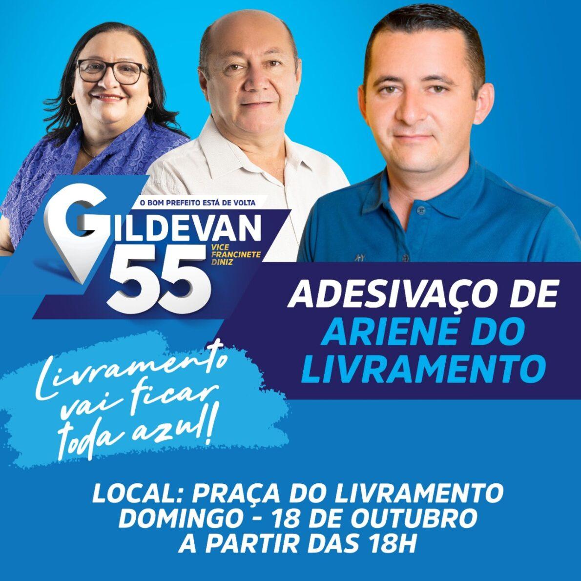Ariene do Livramento organiza Adesivaço na praça do Distrito neste domingo