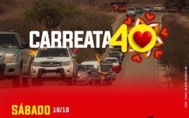 Josimara e Corrinha lideram Carreata 40 pelas ruas de Dormentes neste sábado