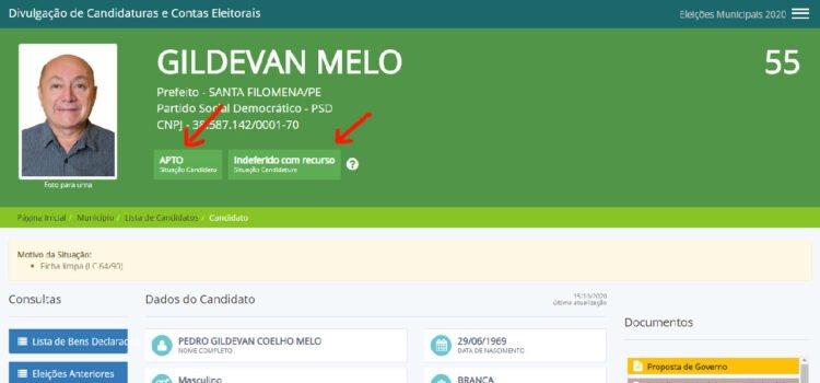 Candidato a prefeito Gildevan está apto a concorrer às eleições no sistema do TSE