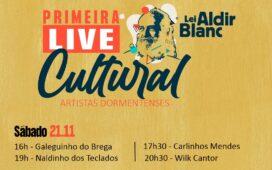 Em Dormentes artistas contemplados pela lei Aldir Blanc participam de live musical neste fim de semana