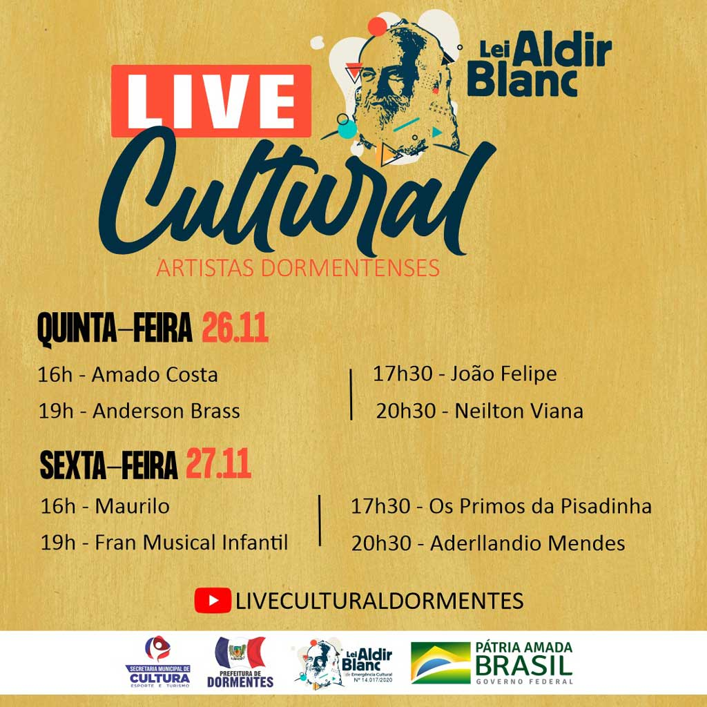 Para fortalecer os artistas locais Prefeitura de Dormentes realiza novas edições da Live Cultural