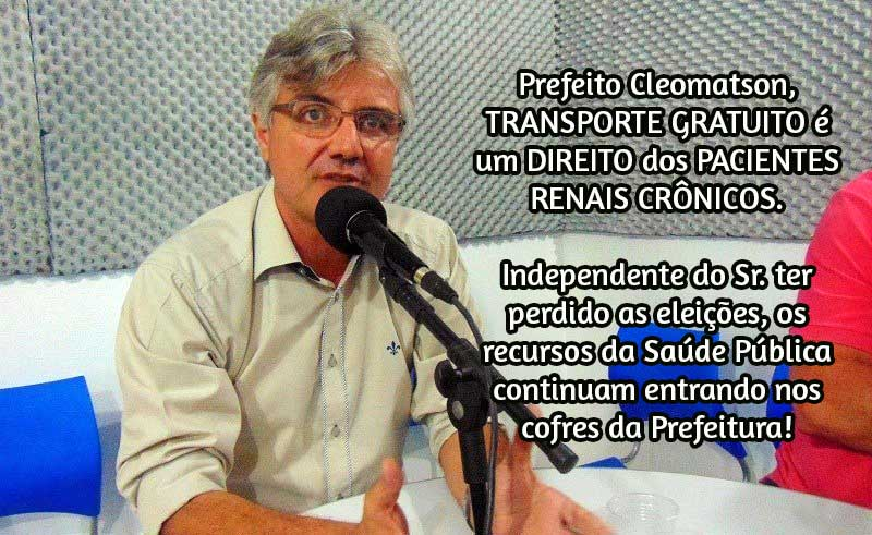 Denúncia: Paciente de hemodiálise têm transporte cortado em Santa Filomena