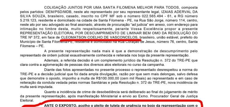 Justiça multa Cleomatson em R$ 100 mil por descumprir medidas de enfrentamento ao coronavirus