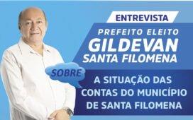 Prefeito eleito de Santa Filomena fala de sua expectativa sobre situação das contas municipais