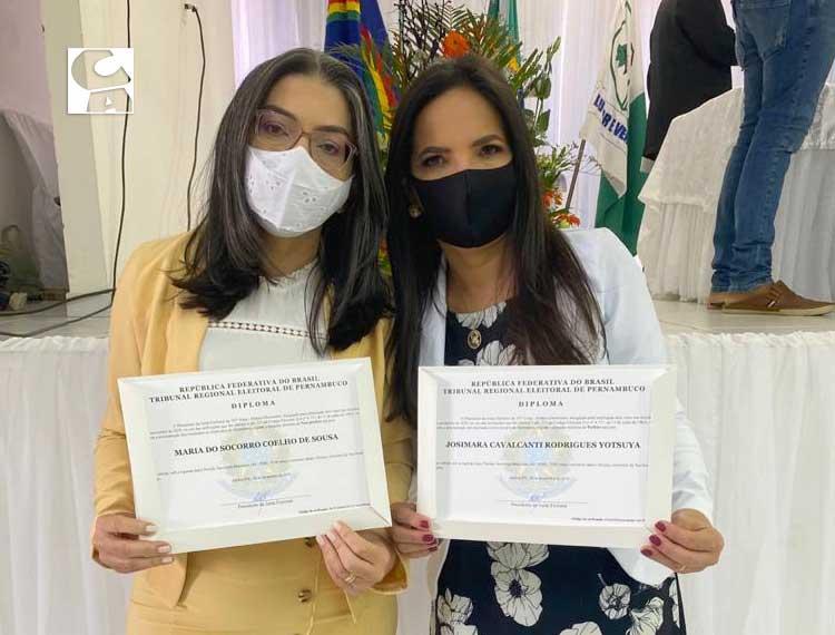 Josimara Cavalcanti e Corrinha de Geomarco são diplomadas prefeita e…