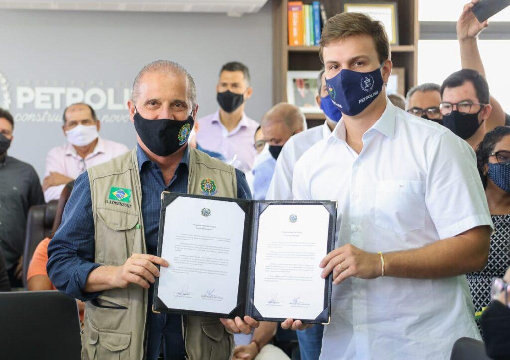 Ministro Onyx e Miguel Coelho anunciam complexo para esportes de alto rendimento em Petrolina
