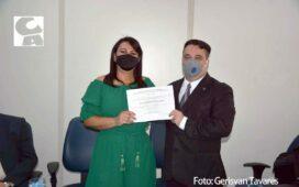Santa Cruz: Eliane Soares, vice-prefeito e vereadores são diplomados