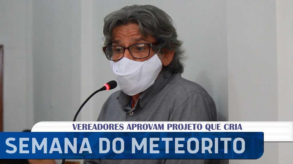 """Professor da UFRPE na Câmara de Santa Filomena: Lei que cria, """"Semana do Meteorito"""""""
