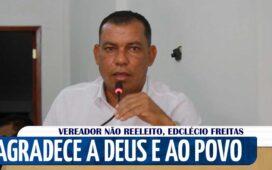 Vídeo: Com discurso emocionado Edclécio Freitas conclui seu mandato na Câmara Municipal