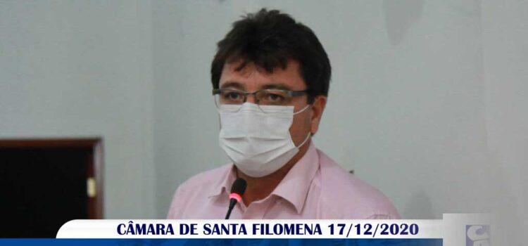 Vídeo: Vereador Geandro Vasconcelos na última sessão da Câmara 2020