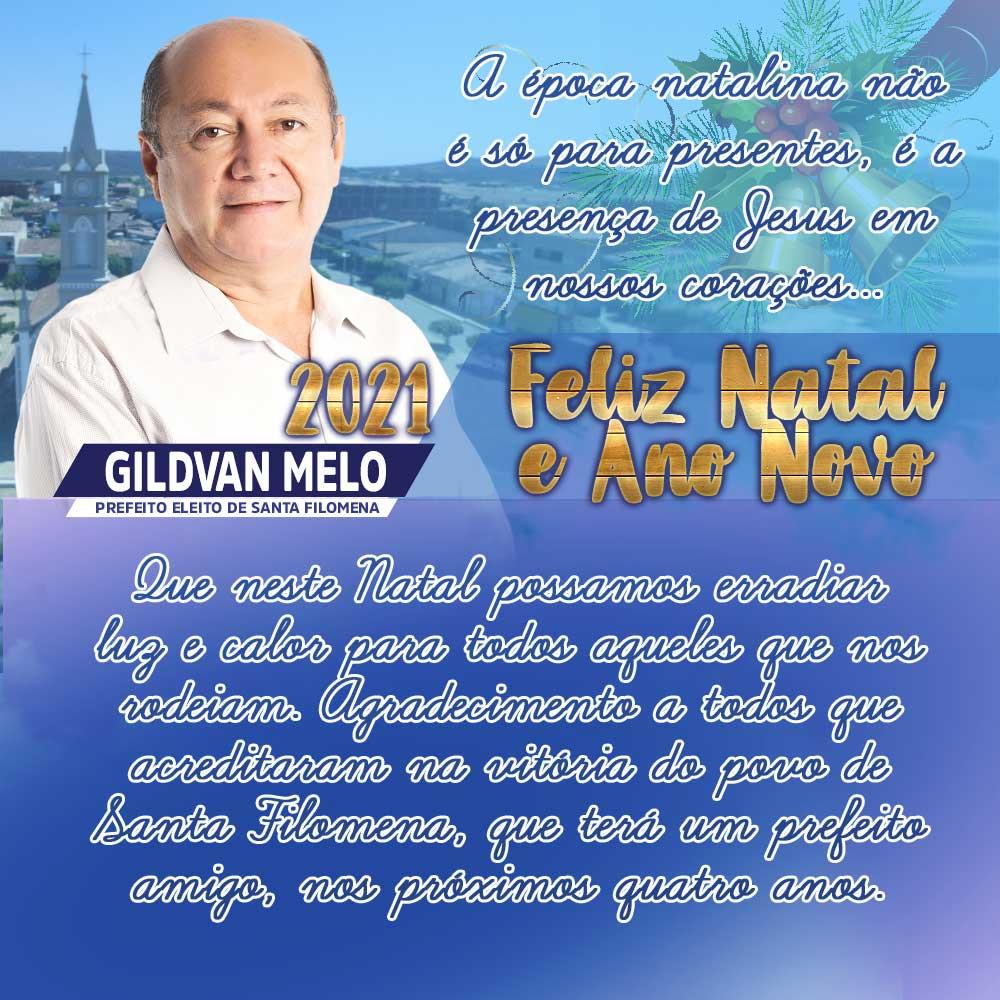 Gildevan Melo deseja feliz Natal e próspero Ano Novo aos filomenenses