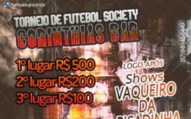 Corinthians Bar realizará 1º Torneio de Futebol Society na Serra do Inácio