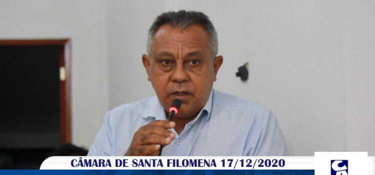 Vídeo: Vereador Valdir Teixeira na última sessão da Câmara 2020