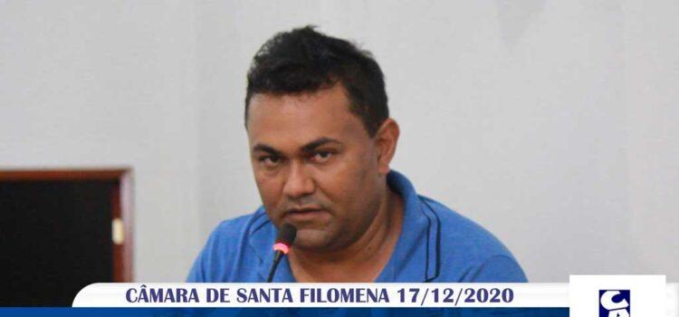 Vídeo: Vereador Erim de Cícero Henrique na última sessão da Câmara 2020